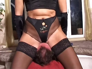 huge;butt;leather;pants;outside;sitting,Big Ass;Fetish;MILF;German leather milf