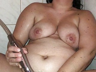 Shower;HD Videos;Orgasm;Portuguese;Big Natural Tits;Wife;Pussy Another masturbation session in the...
