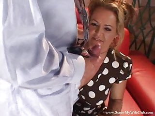 Blonde;Cumshot;Hardcore;MILF Hard Sex For His Horny Wife