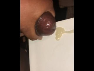jackoff;masturbation,Amateur;Big Dick;Cumshot;Ebony;Masturbation;Mature;Solo Male Sneak 1 in before work