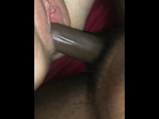 milf;interracial,Amateur;Big Ass;Big Dick;Blonde;Interracial;MILF Trying hard not to bust