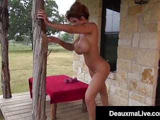 Mature;MILF;HD Videos;Cougar;Outdoor;Muscular Woman;Big Tits;Big Ass;Pussy Naked Mommy Deauxma Gets Fit On the...
