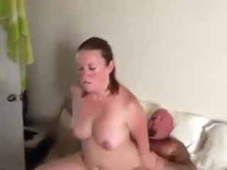 3some;bear;mmf;threesome,Amateur;Babe;Fetish;Hardcore;Threesome;Muscular Men Wife sucks cock and rides bear