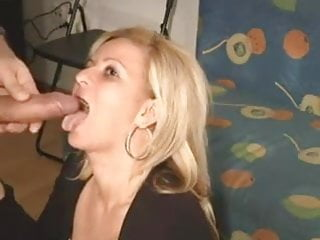 Blonde;Blowjob;Cumshot;Mature;Cum Swallowing;Wife;Big Tits;Homemade Mature blonde giving a Blowjob