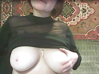 Webcam;MILF;Striptease;Big Natural Tits;Big Tits Russian mature with great tits...