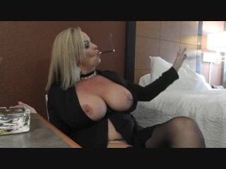 mom;mother,MILF;Smoking Ultimate Bitch Mandy Smokes 2