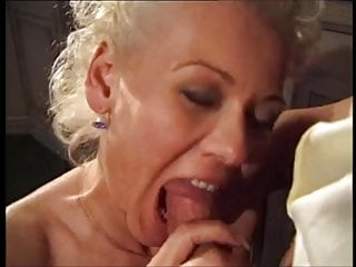 Blonde;Blowjob;Cumshot;Facial;MILF;HD Videos;Doggy Style;Cum in Mouth;European Blonde milf and a big cock