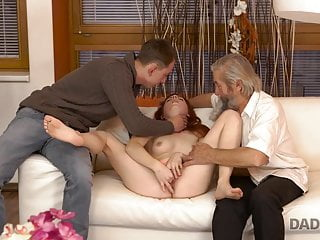 Blowjob;Mature;Teen;Redhead;Old & Young;Czech;18 Year Old;Eating Pussy;Dad DADDY4K. Mature dad of boyfriend...