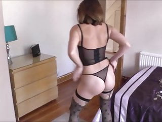 Brunette;Tits;Stockings;MILF;High Heels;Wife;Pussy;Mom Hot wife Anna Strip -- Deviant Sluts...