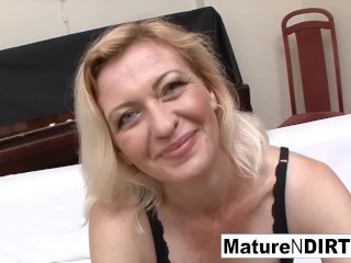 maturendirty;staxxx;mature;pussy;ass;tits;older;old;granny;hardcore;sexcumshot;blowjob;3some,Blonde;Hardcore;Mature;Threesome Slutty blonde grandma takes two loads...