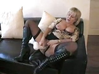 Amateur;Blonde;Sex Toy;Stockings;MILF;Cougar;Wife;Girl Masturbating Blond Milf Dildo play