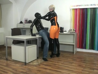 kink;mom;mother;blonde;strapon;boots;latex;rubber,Blonde;Fetish;Hardcore;MILF;Compilation Goddess Blonde sexy latex clothes...