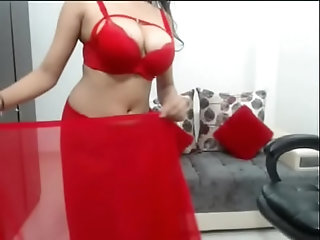hot,milf,tease,webcams,milf Red Saree model