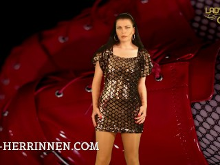kink;mom;mother;point;of;view;mistress;domina;orgasm;control;femdom;dominatrix;nylons;pantyhose;legs;short;dress;submission;humiliation;servile,Brunette;Fetish;MILF;POV;Role Play;German;Solo Female Die totale Unterwerfung der...
