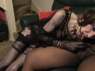 mom;mother,Amateur;Brunette;Blowjob;MILF;Transgender;Trans With Guy Sophie London: Don't You Wish...