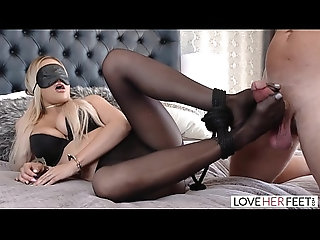 blonde,babe,ass,beautiful,pantyhose,footjob,handcuffs,tied,feet,kinky,stranger,hogtied,toes,blindfolded,wife-swap,perfect-ass,foot-fetish,cum-on-feet,foot-worship,foot-fuck,blonde LoveHerFeet - A Pleasant Foot Fucking...