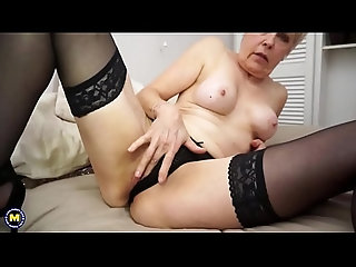 stockings,dildo,blonde,milf,amateur,mature,old,toys,masturbation,solo,mom,granny,mommy,older,olderwoman,matures,natural-tits,milf British mature lady playing with herself