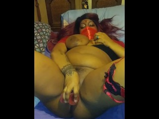 pussy;vagina;toy;toying;creamy;orgasm;loud;moaning;wet,Big Ass;Ebony;Masturbation;Toys;MILF;Cosplay;Solo Female;Female Orgasm Asuma toying creamy pussy orgasm loud...
