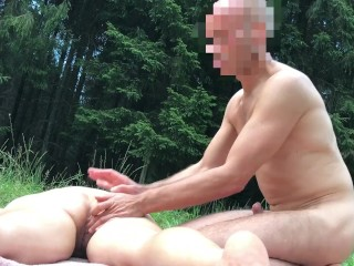 butt;big;boobs;mom;mother;public;outside,Amateur;Big Ass;Big Tits;Hardcore;Public;MILF;German;60FPS Ficken im Wald