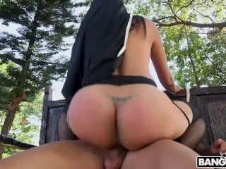 bangbros;nun;pornstar;high;quality,Big Ass;Big Dick;Big Tits;Blowjob;Cumshot;Hardcore;Public;MILF Bangbros - Is.. The Squirting Nun