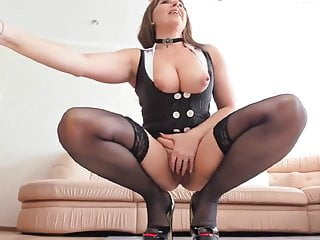 Webcam;Sex Toy;Fingering;Mature;Stockings;Nylon;HD Videos;Dildo;Big Tits Mature masturbating in stockings