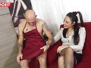 Anal;Blowjob;Brunette;Hardcore;Mature;Italian;Casting;Big Cock;Tight Pussy LETSDOEIT - Hard Anal Audition with...