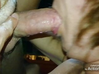 Amateur;Blowjob;Cumshot;Redhead;MILF;German One more Cum in Mouth of my wife
