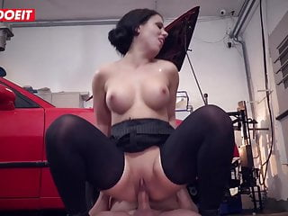 Blowjob;Hardcore;MILF;German;Secretary;Big Tits;Threesome;Big Cock;European LETSDOEIT - German Secretary Fucked...