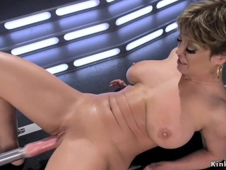 dildo;squirt;milf,Big Ass;Big Tits;Masturbation;Toys;MILF;Pornstar;Anal;Squirt;Solo Female,Dee Williams Darling is Machine Fucked in Her...