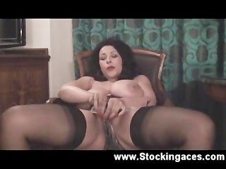 sclip;stockingaces.com;ass;busty;boobs;big;boobs;huge;tits;wife;housewife;stockings;brunette;mature;milf;big;tits;masturbation;solo;english;natural;tits,Big Tits;Masturbation;Mature;Pornstar,danica collins Late Night Stocking TEase