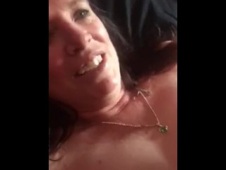 threesome;slut;wife;cock;sucking,Amateur;Blowjob;Masturbation;Mature;Threesome;Exclusive;Verified Amateurs Going sloppy seconds on my wife after...