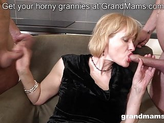 Anal;Fingering;Mature;Old & Young;Granny;Strapon;HD Videos;Cougar;Orgasm Granny Pegging young guy after...