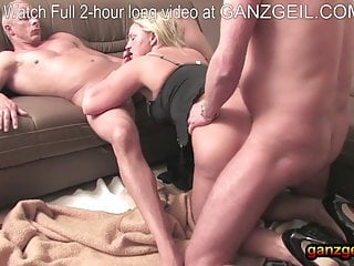 Mature;Creampie;Double Penetration;German;Cougar;Orgasm;69;Eating Pussy;Threesome Amateur German threesome for...